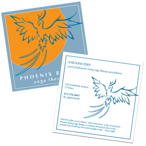 Pheonix Rising Yoga Business Card